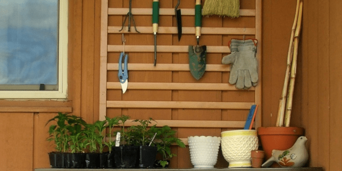 Crib side rail for garden work station