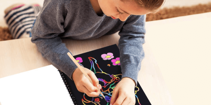#3 Purple Ladybug Paper Art Craft Kit for Kids