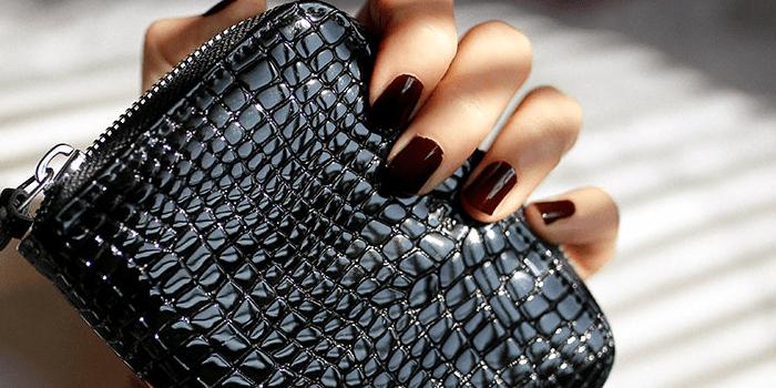 Women's Vegan Leather Wristlet Zipper Wallet