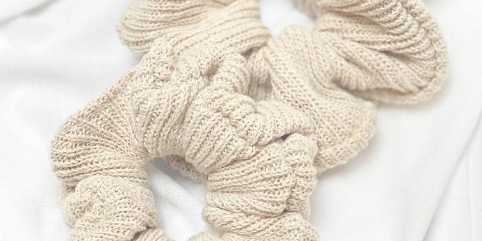 100% Natural Organic Hemp Sustainable Scrunchies Handmade