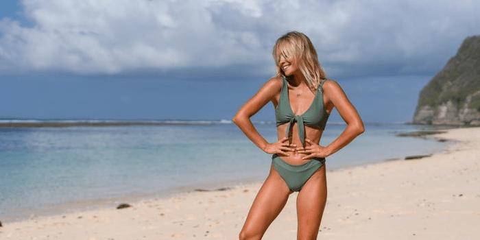 Khaki Hula Swimwear Bikini Set