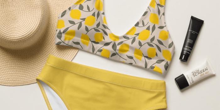 Lovely Lemons Recycled High Waisted Bikini Set