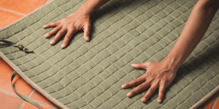 Live Well 360 Handmade Yoga Mat - Best Cotton Yoga Mat