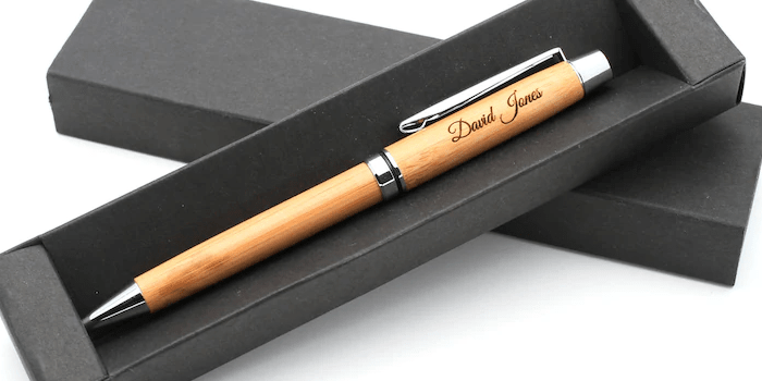 Personalised Custom Bamboo Eco Pen - Best as a Gift